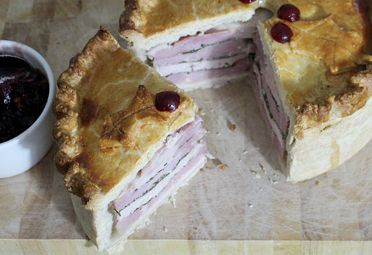 Christmas Turkey and Ham Pie Recipe