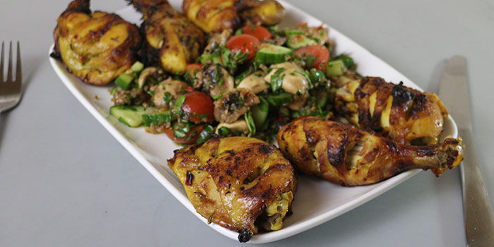 Chilli and Lime Chicken with Mushroom Salad Recipe
