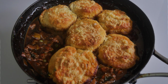 Minced Beef Cobbler with Cheesy Scones Recipe