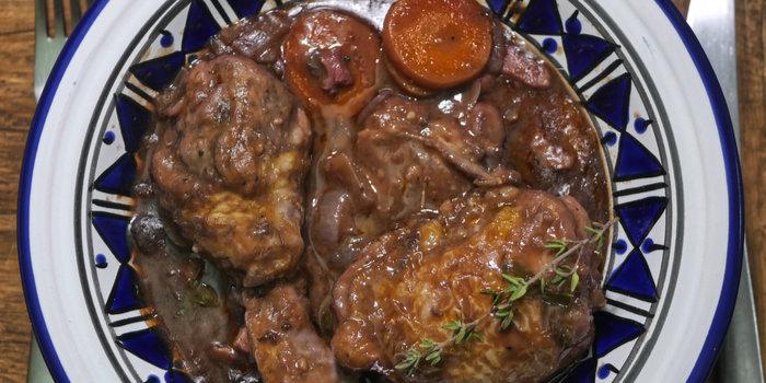 Coq au Vin | Chicken in Red Wine Recipe