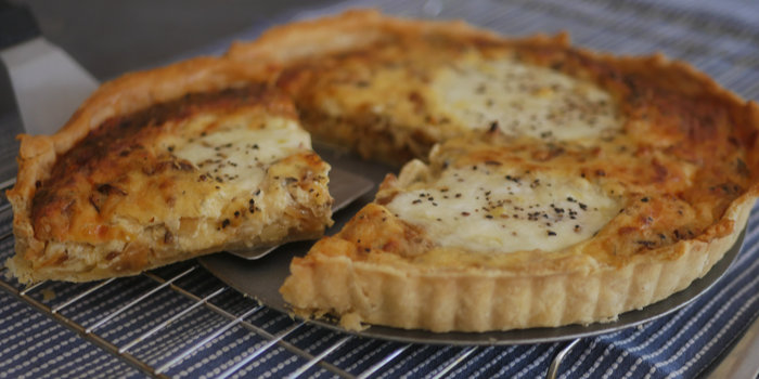 Caramelized Onion and Cheese Tart Recipe