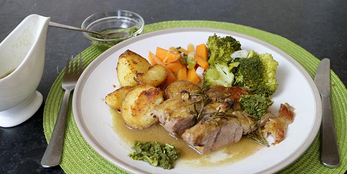 Roast Lamb and Mint Sauce Recipe