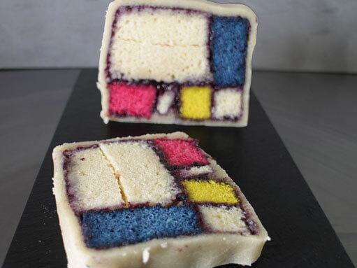 Mondrian Battenberg Cake Recipe