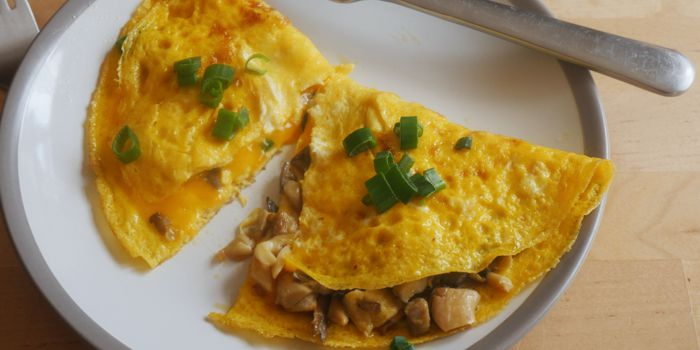 Cheese and Mushroom Omelettes Recipe