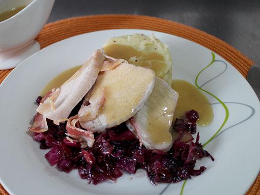 Roast Pork with Braised Red Cabbage Recipe
