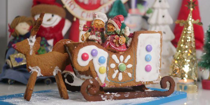 Gingerbread Sleigh and Reindeers Recipe